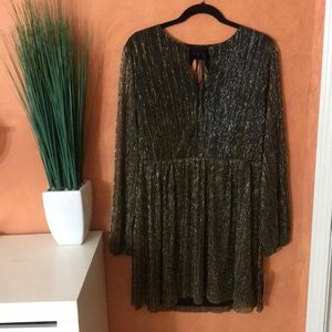 XHILARATION | metallic dress